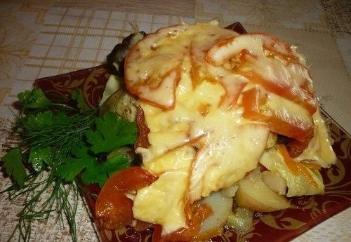 Овощи, запеченные слоями, в …