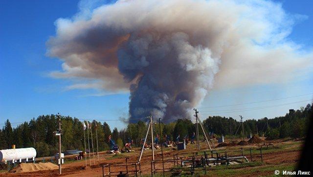 Пожар в Пугачево
