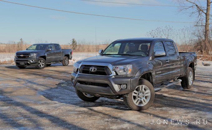 Сравниваем Toyota Tacoma и Chevrolet Colorado 2015 года