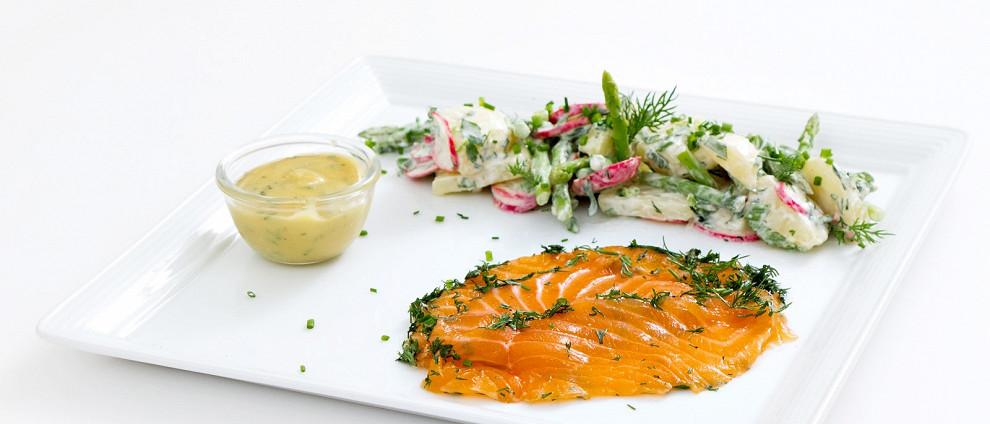 СЕМЕЙНЫЙ УЖИН. Рыбные рецепты. Гравлакс с картофельным салатом