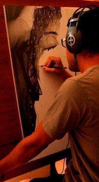 Рисует художник-гиперреалист Диего Фацио (Diego Fazio)