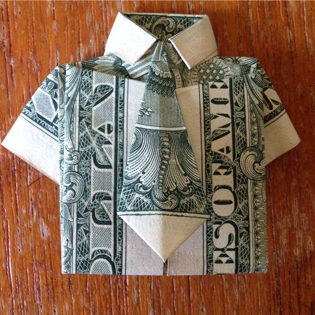 Рубашка сгалстуком издолларовой купюры