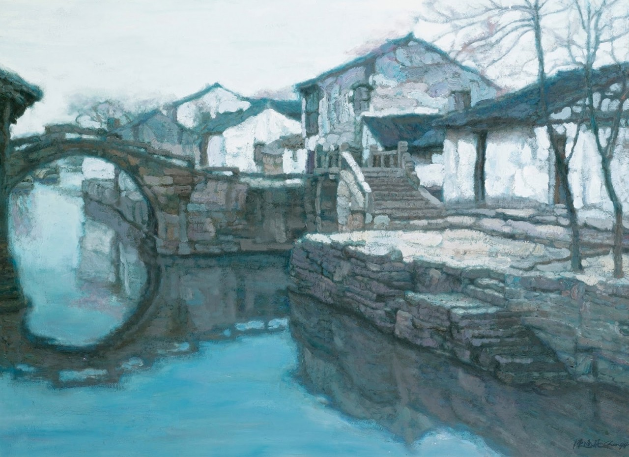Как качаются ветки, как скользят челноки... Китайский художник Chen Yifei (1946 - 2005)