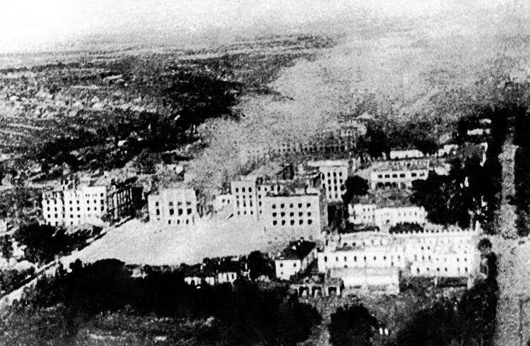 ID: 10632280 Описание: Советский Союз. Брянск. Вид на город в день освобождения от немецко-фашистских захватчиков, 1943 год. Фотохроника ТАСС