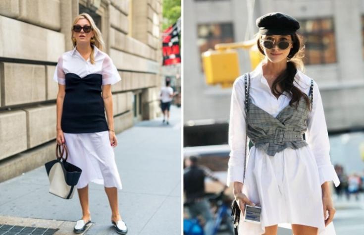 Белые блузки 2018 (подборка)