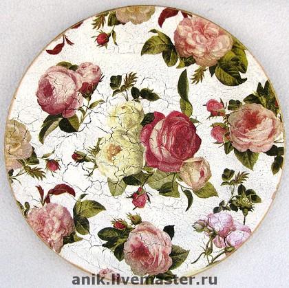 """Декоративная посуда ручной работы. Ярмарка Мастеров - ручная работа Тарелка """"Великолепная роза"""". Handmade."""