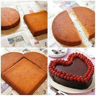 8f2e237c834e Как легко  сделать торт в виде сердца. Мастер класс