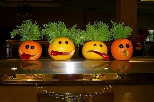 Поделки из овощей и фруктов в домашних условиях