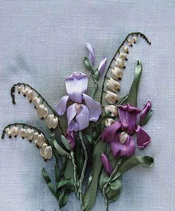 Прекрасная вышивка: в мире распускающихся цветов