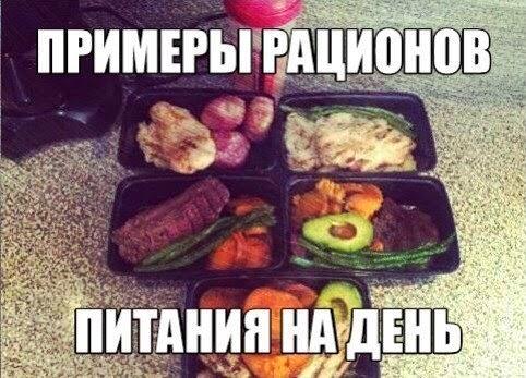 Примеры рационов питания на день