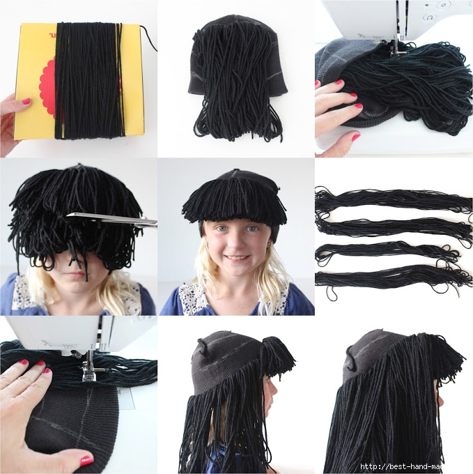 Как сделать парик себе дома
