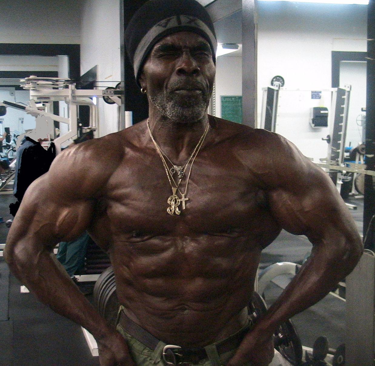 07. Робби Робинсон (на фото 64 года). бодибилдинг, жизнь, спорт, старость