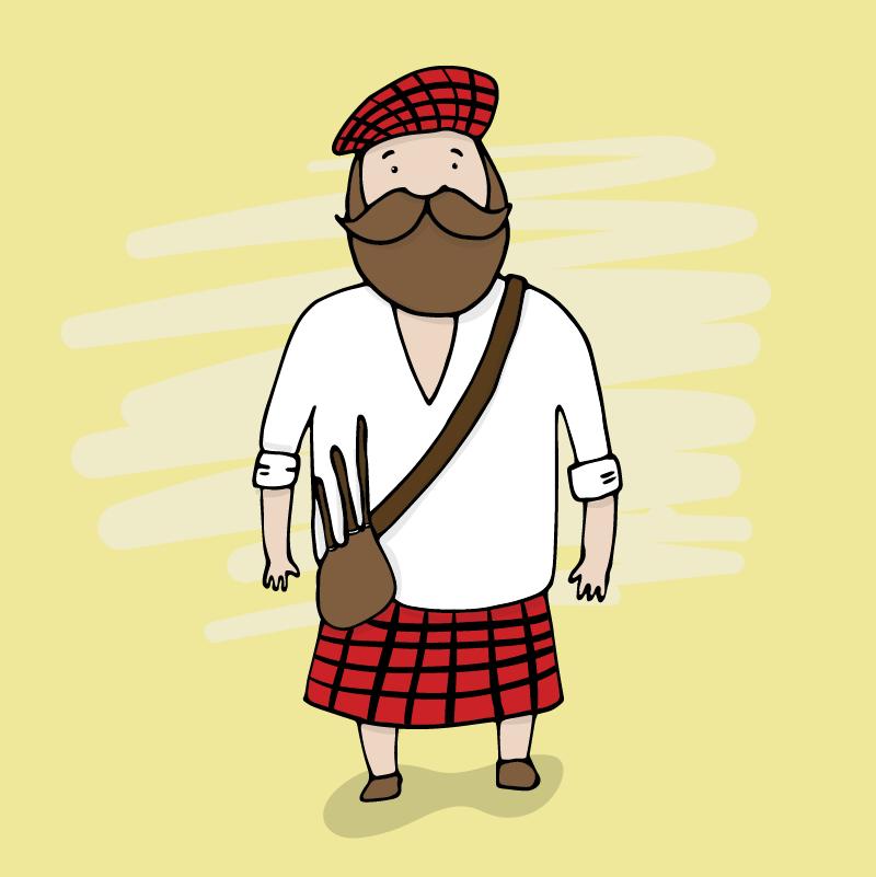 Анекдот про то, как шотландец позвал вгости американца
