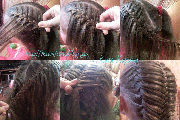 Красивое плетения волос для детей