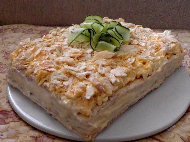 """Салат-торт """"Закусочный"""""""