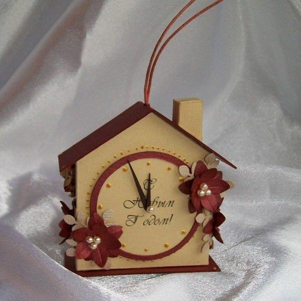 Сделать своими руками из картона новогодние часы