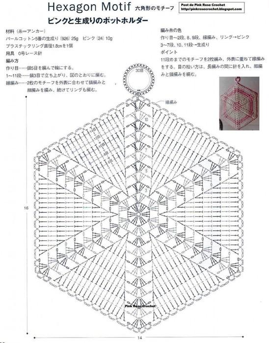Вяжем прихватки крючком со схемами фото 528