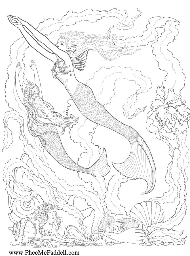 Enchanted Designs Fairy & Mermaid Blog: Free Fairy Fantasy Coloring Pages by Phee McFaddell: