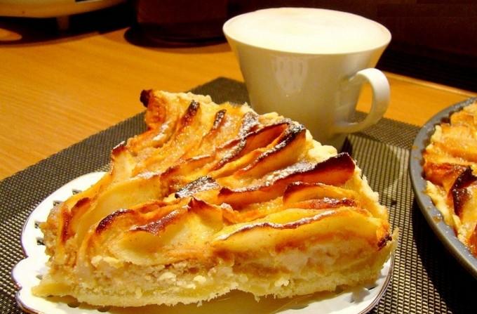 Яблочный пирог «Мозаика» с карамелью