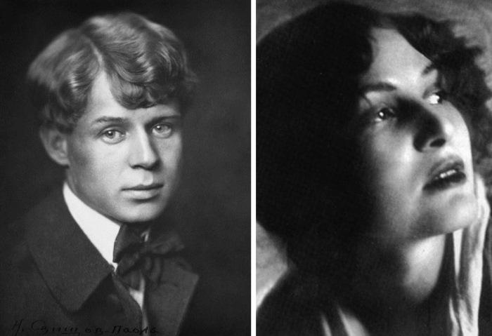 Сергей Есенин и его первая жена, Зинаида Райх