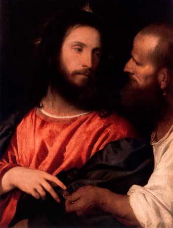 Тициан. Христос с динарием (Динарий кесаря)