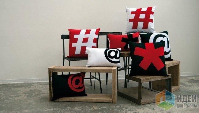 Декоративная подушка, тематически декор интерьера