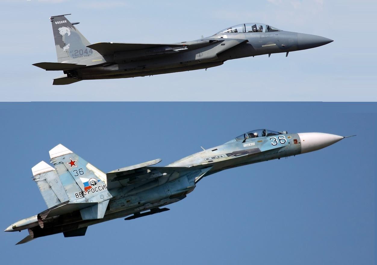 О первом воздушном «бое» F-15 и Су-27…