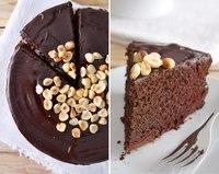 Шоколадный веганский торт с портвейном