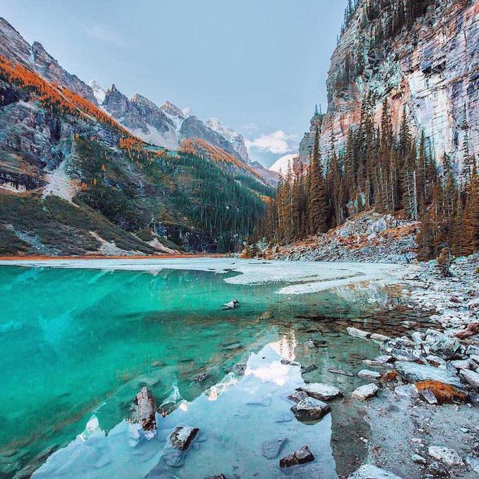 Красота озера Луиз в Канаде