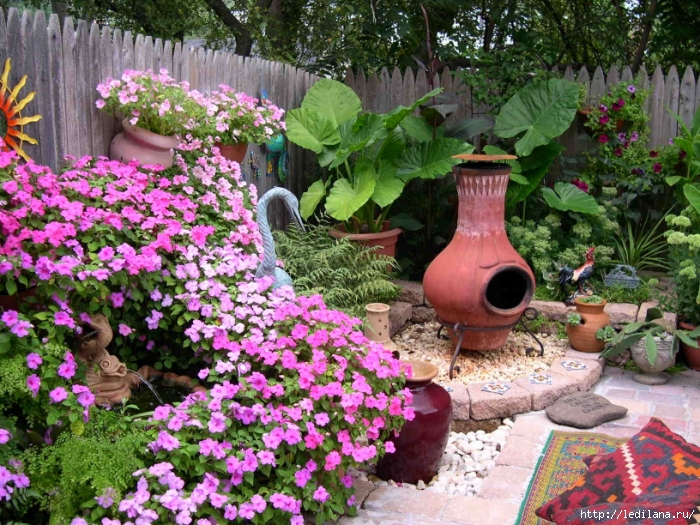 наводим на даче в саду красоту своими руками