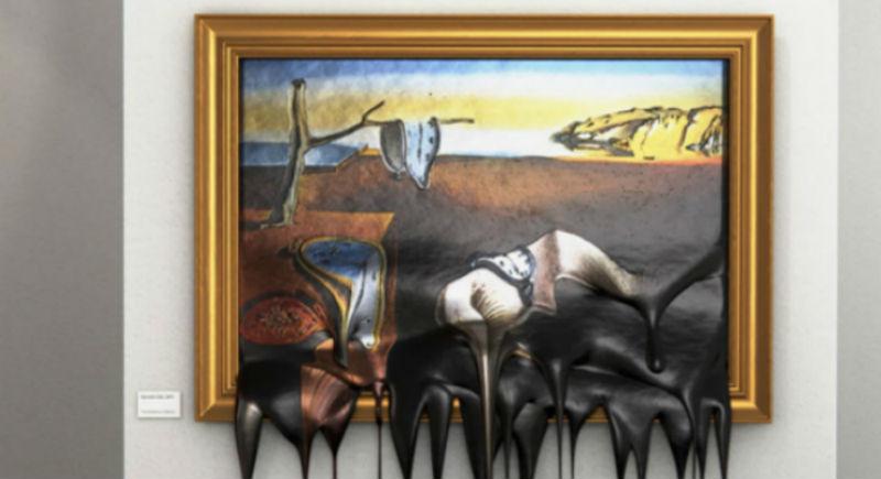 Горячее искусство: как выглядят известные картины, «стекшие» на пол