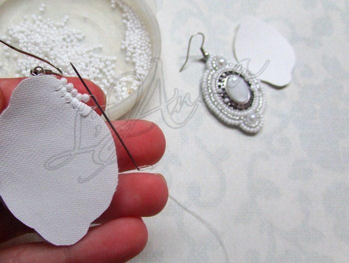 Создаем свадебные серьги