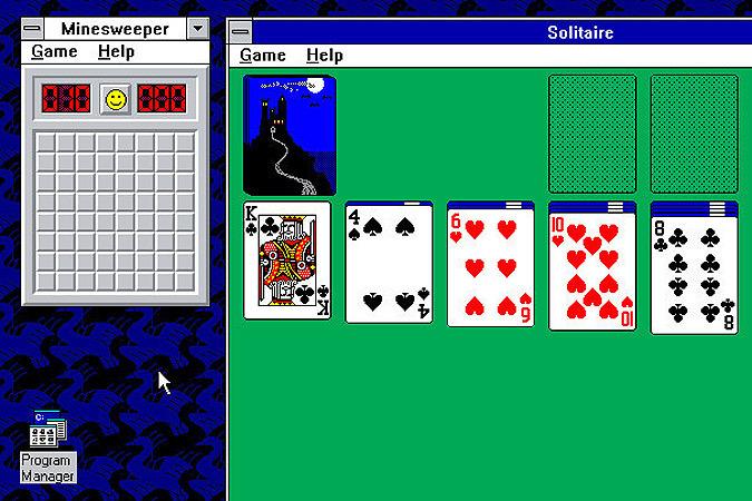 """Microsoft рассказала, зачем были нужны игры """"Сапер"""" и """"Косынка"""""""