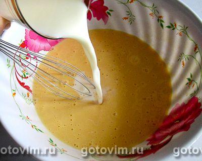 Омлет с плавленым сыром в мультиварке, Шаг 04