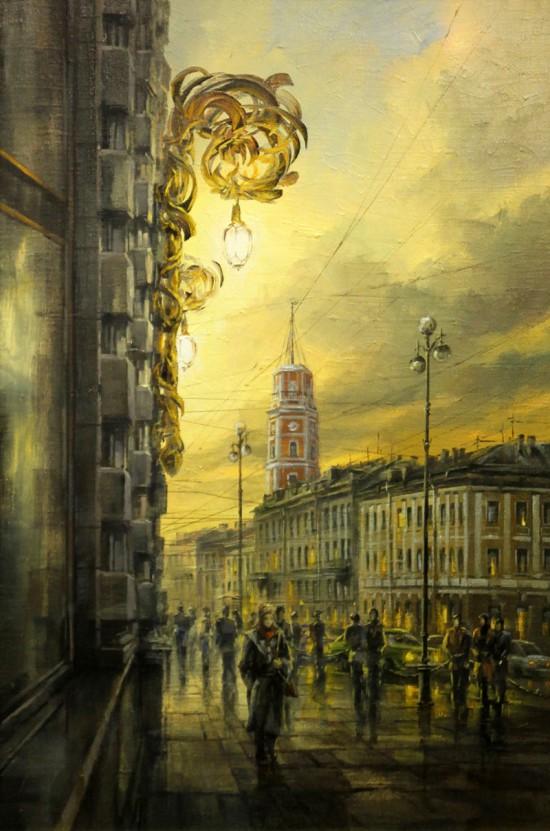городской пейзаж Игорь Кирсанов - 13