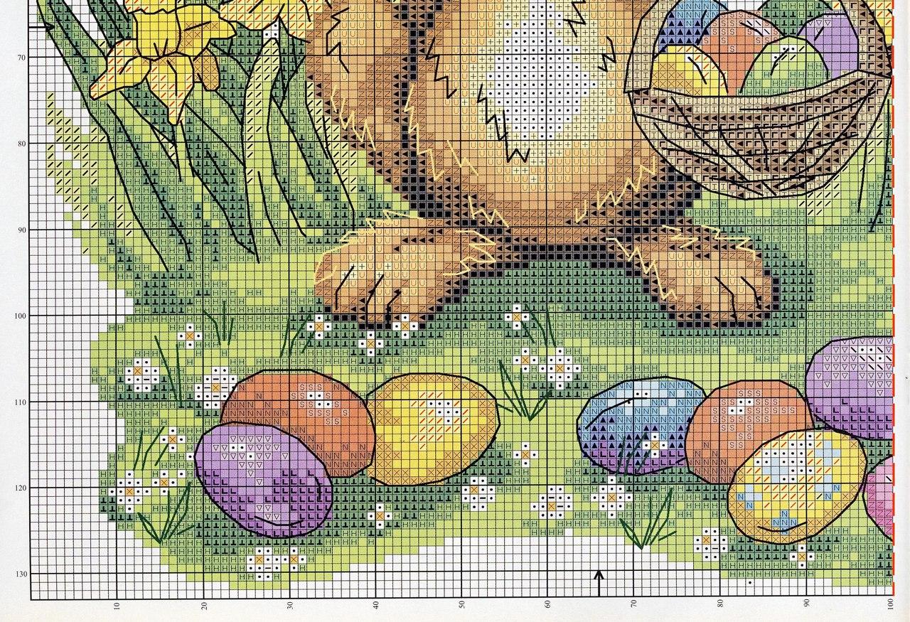 Схемы для вышивки крестом зайцев-кроликов 50