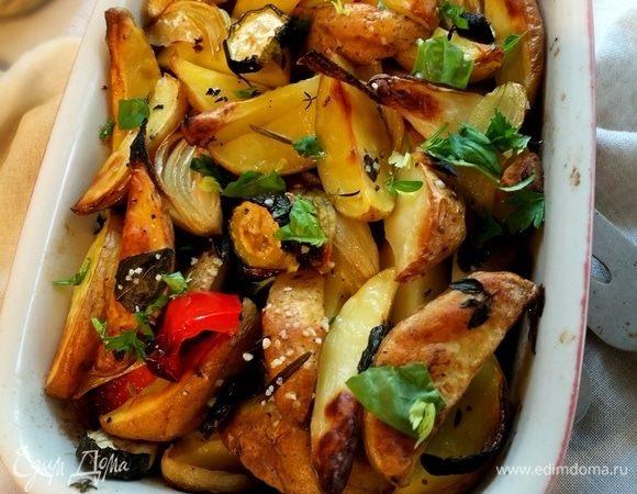 Маринованный картофель с овощами