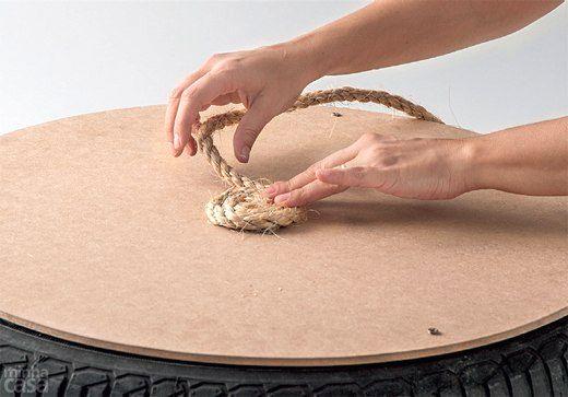 журнальный столик своими руками из автомобильной шины