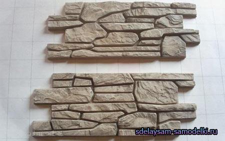Камень своими руками из картона