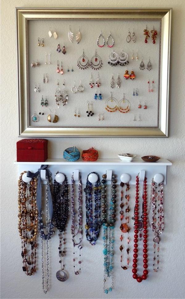 Настенная вешалка для украшений: 80 творческих идей