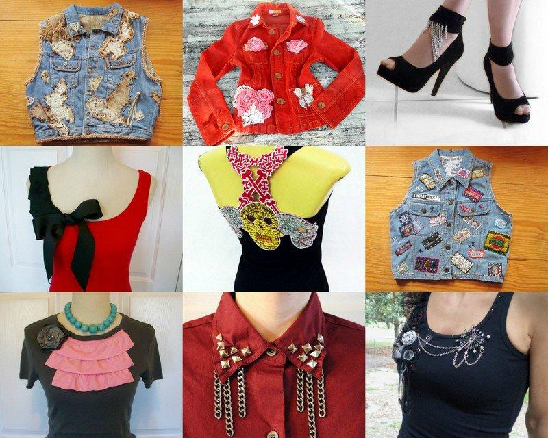 украшение старой одежды своими руками