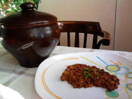 Рецепт чечевица в горшочке от Ольги Мальцевой