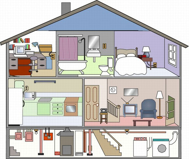 Рисунки дома с комнатами