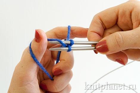 Волшебный набор петель для вязания по кругу. Этап 5.