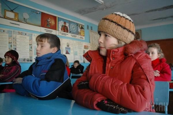 дети мерзнут в школе