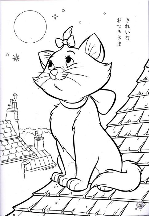 Раскраски кот онлайн для девочек