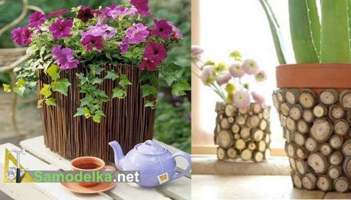 Как задекорировать горшок для цветов