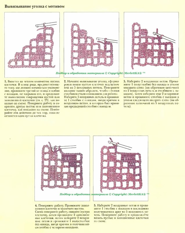 Техника филейного вязания для начинающих. Продолжение подборки. Постила