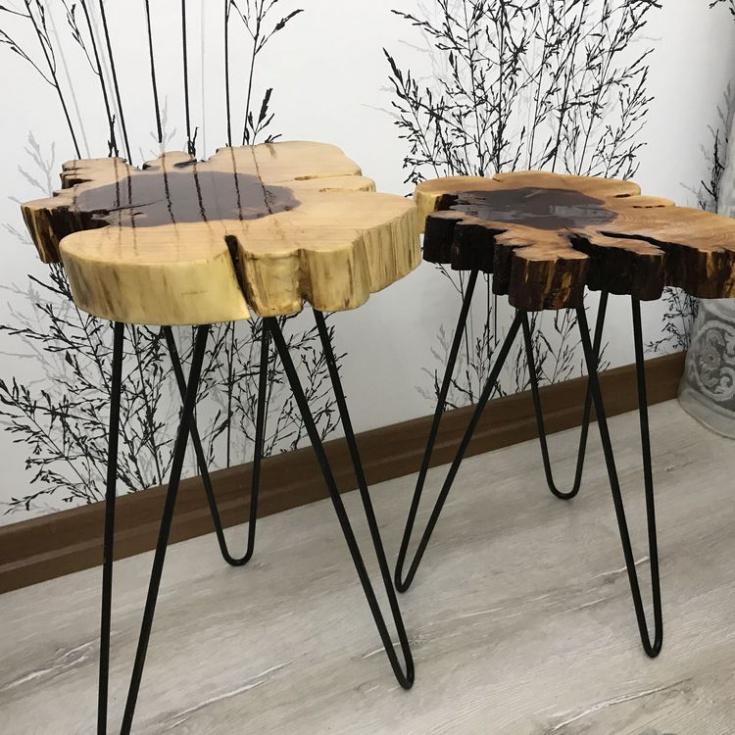 Мебель из куска дерева (подборка Diy)