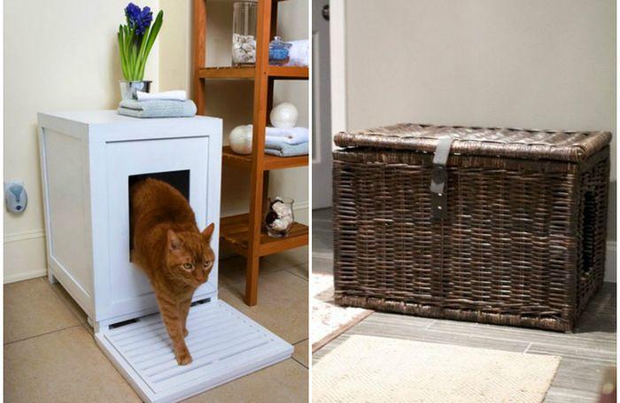 Куда спрятать туалет любимой кошки, чтобы он не испортил интерьер